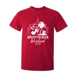 Brighton Bear Weekend 2018 red t-shirt