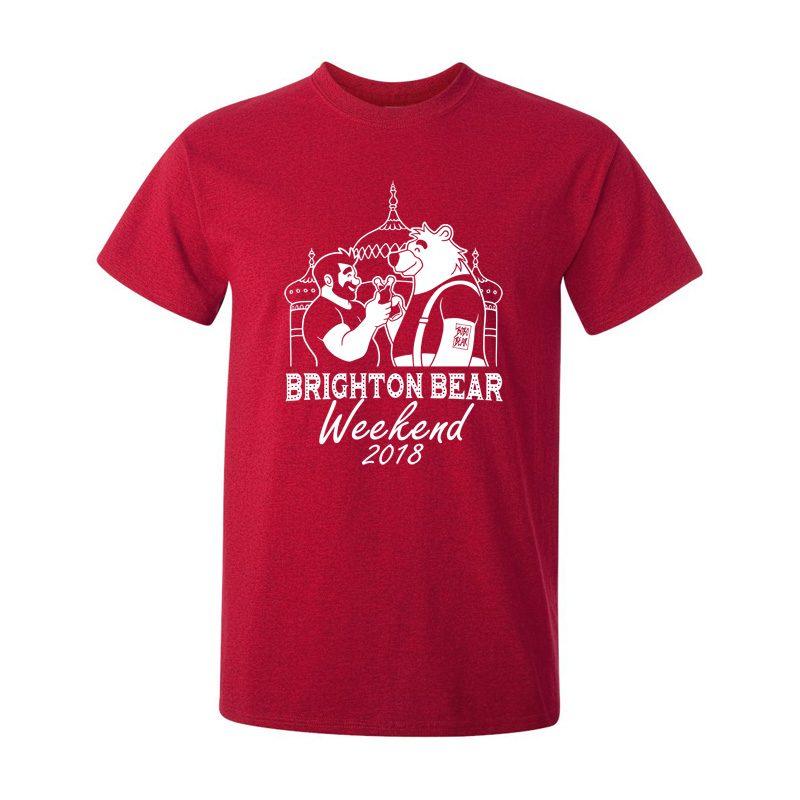 Brighton Bear Weekend 2018 red t-shirt