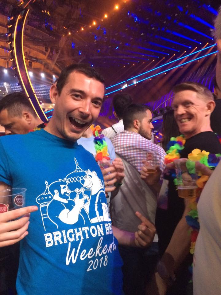 Brighton Bear Weekend 2018 t-shirt at Eurovision