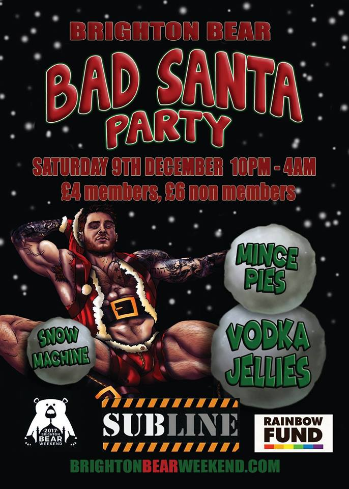 Bad Santa Party at Subline