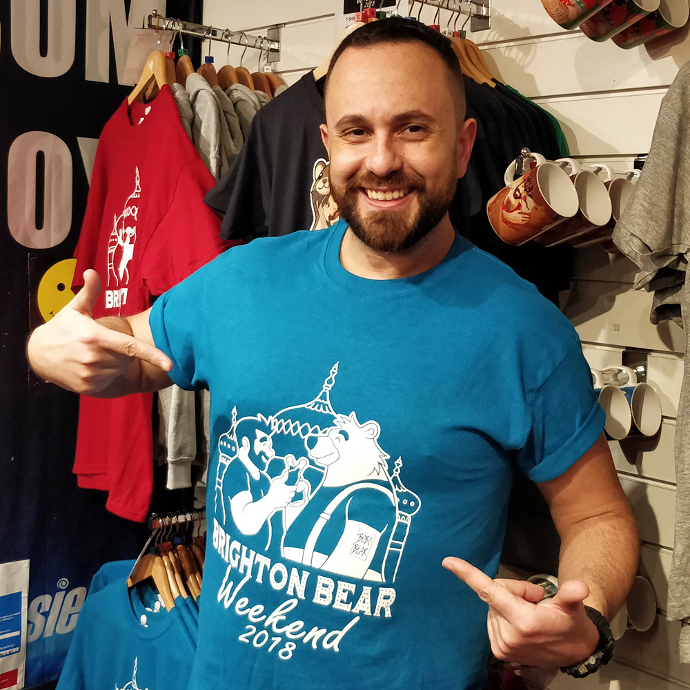 Blue Brighton Bear Weekend 2018 t-shirt