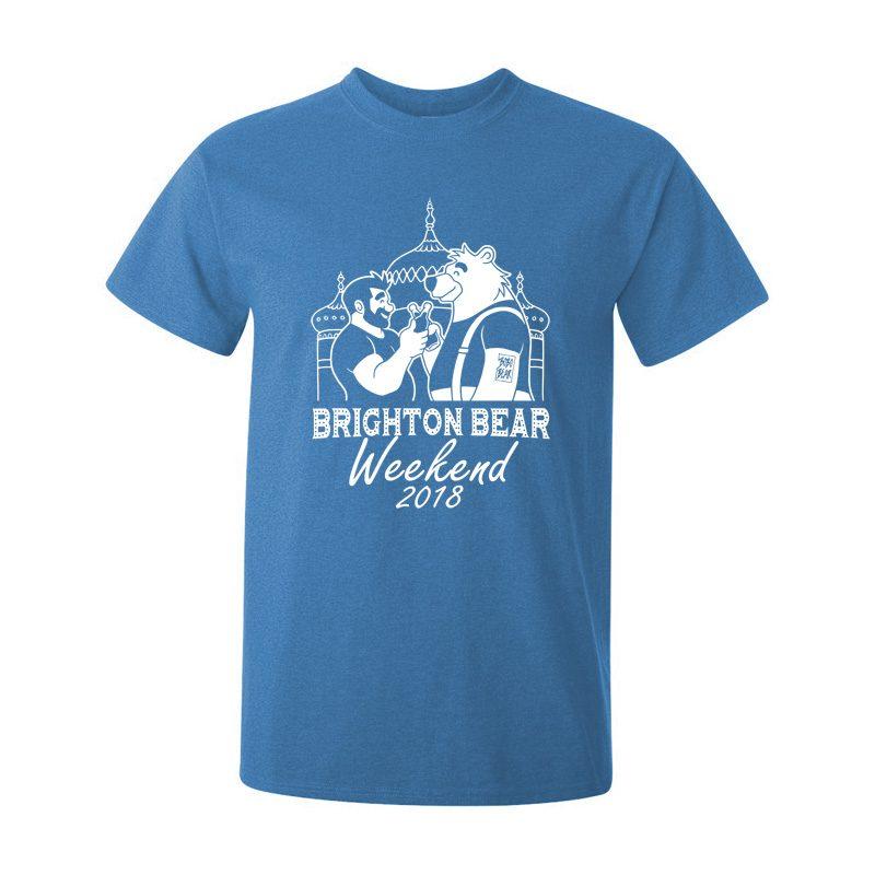 Brighton Bear Weekend 2018 antique blue t-shirt