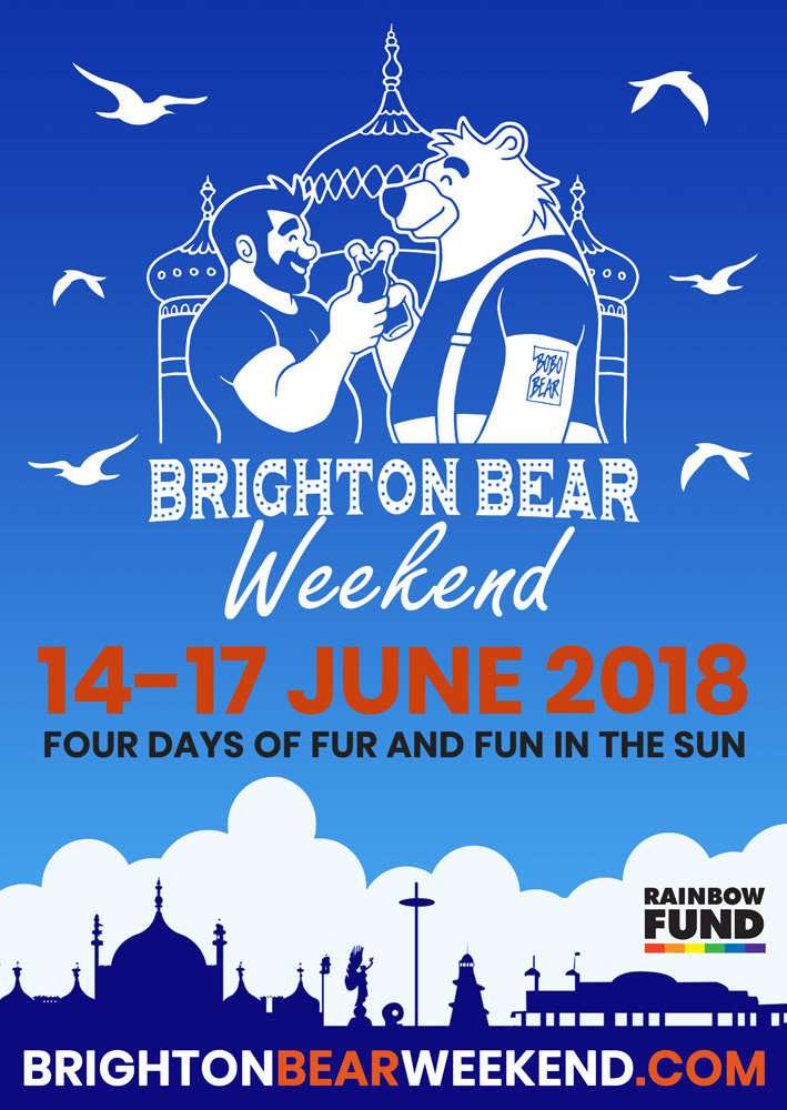 Brighton Bear Weekend 2018 poster