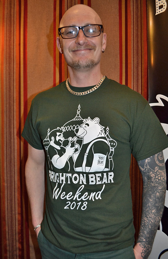 Forest green Brighton Bear Weekend 2018 t-shirt