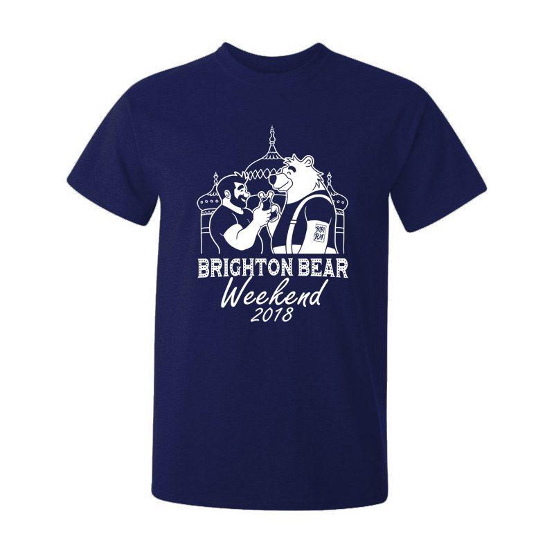 Navy blue Brighton Bear Weekend 2018 t-shirt