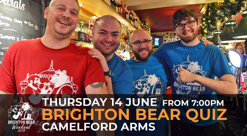 Brighton Bear Weekend 2018: Brighton Bear Quiz, 14 June