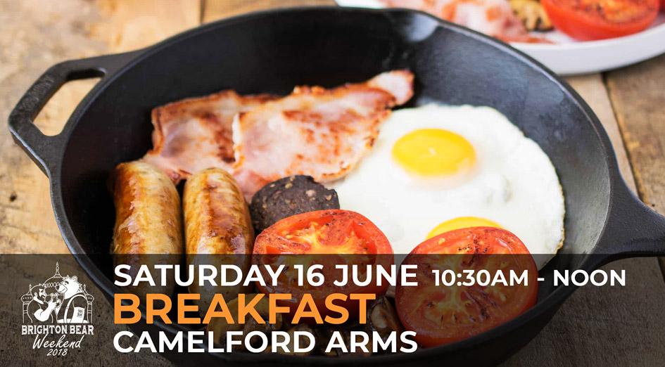 Brighton Bear Weekend 2018: Breakfast, 16 June