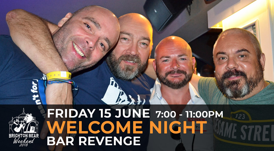 Brighton Bear Weekend 2018: Welcome Night, 15 June