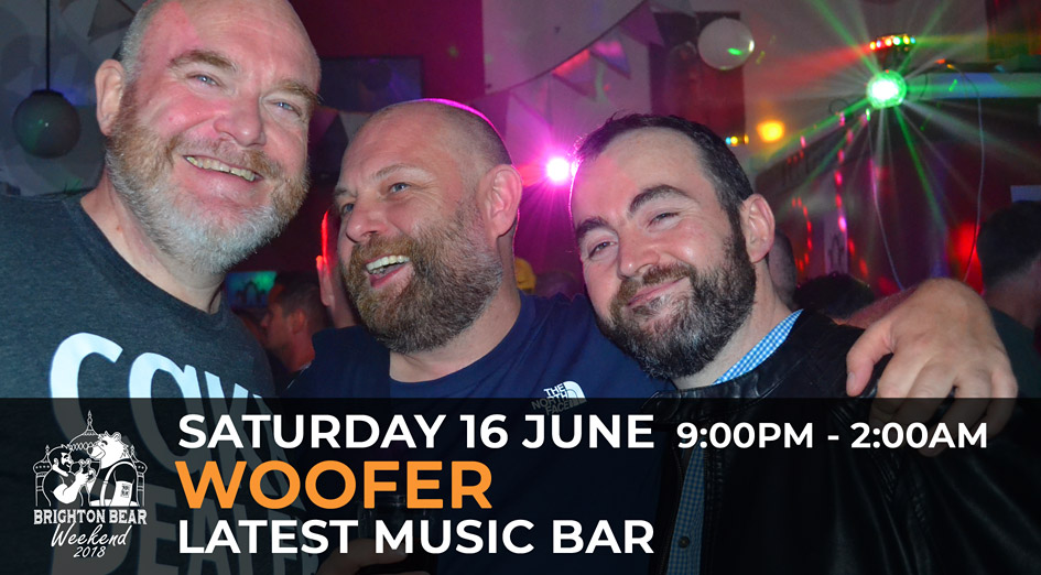 Brighton Bear Weekend 2018: Woofer, 16 June