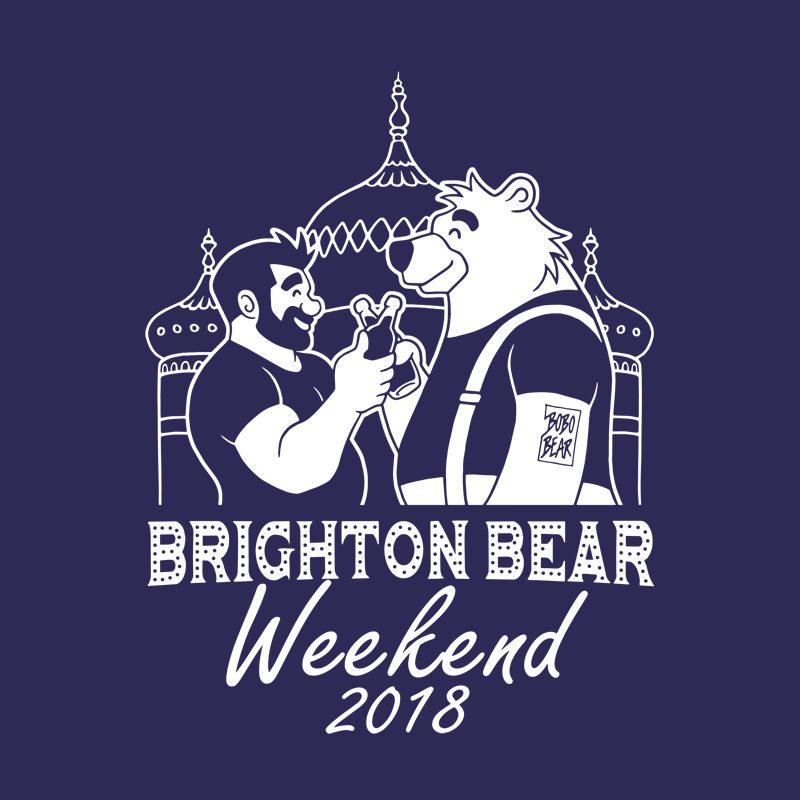 Navy blue Brighton Bear Weekend 2018 vest