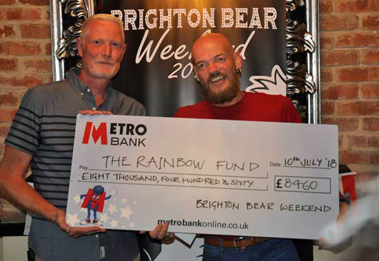 Cheque presentation to the Rainbow Fund