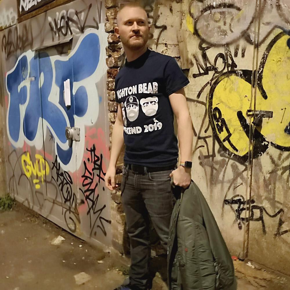 Navy blue Brighton Bear Weekend 2019 t-shirt