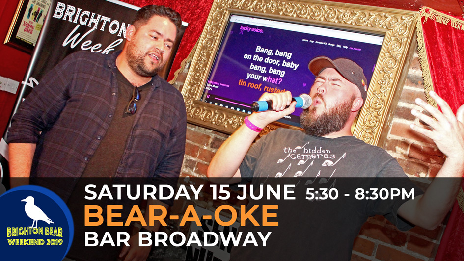 Bear-a-oke, Saturday 15 June, 5:30 to 8:30 pm