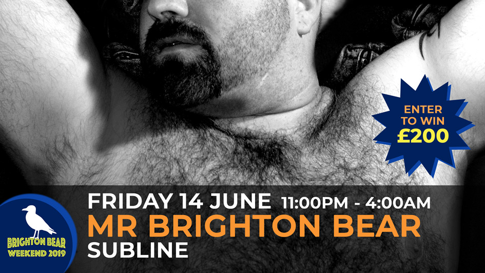Mr Brighton Bear competition, Friday 14 June, 11:00 pm to 4:00 am