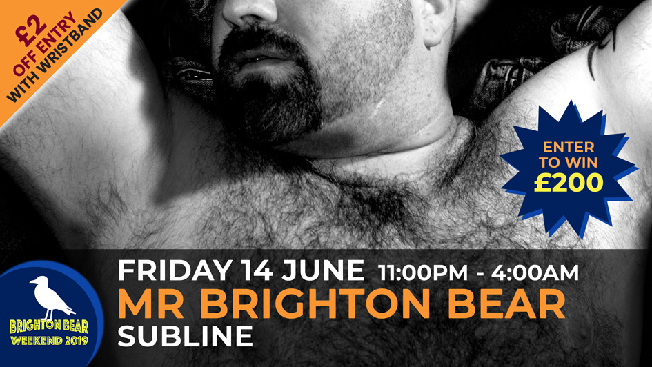 Mr Brighton Bear competition, Friday 14 June, 11:00 pm until late
