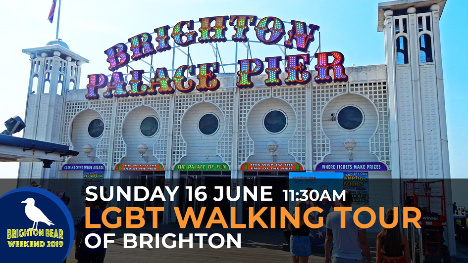LGBT Walking Tour of Brighton, Sunday 16 June, 11:00 am