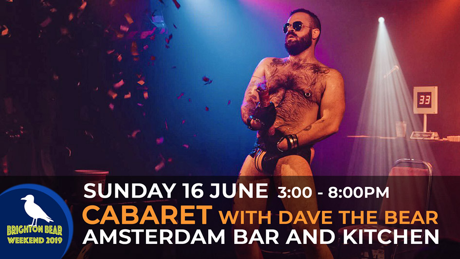 Cabaret with Dave the Bear, Sunday 16 June, 3:00 to 8:00 pm