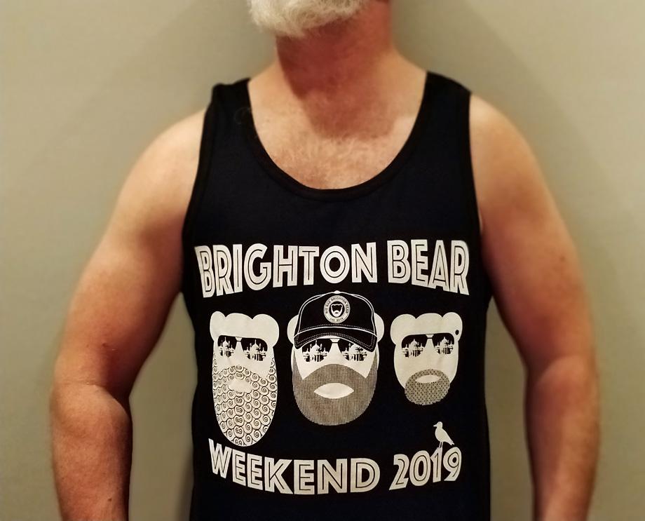 Black Brighton Bear Weekend 2019 vest