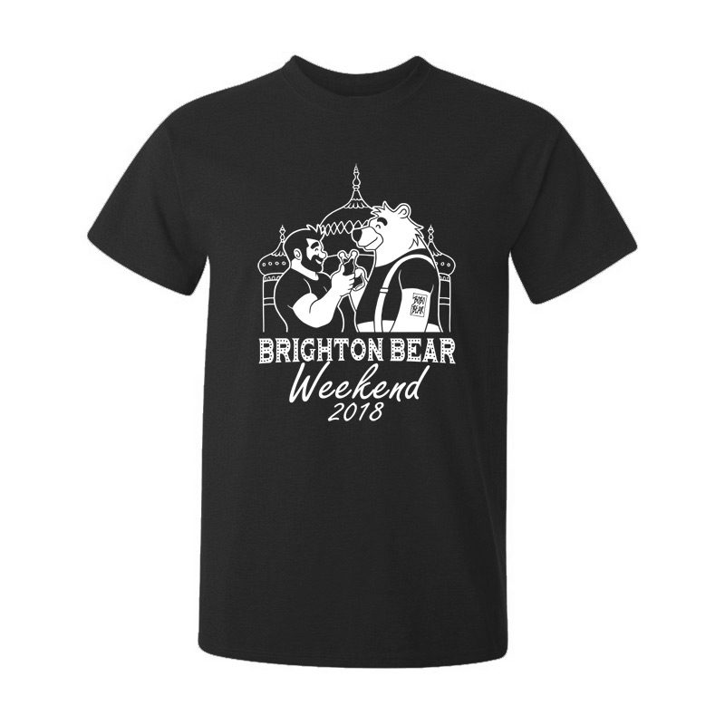 Black Brighton Bear Weekend 2018 t-shirt