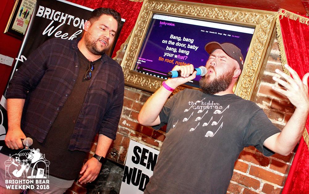 Bear-a-oke at Brighton Bear Weekend 2018