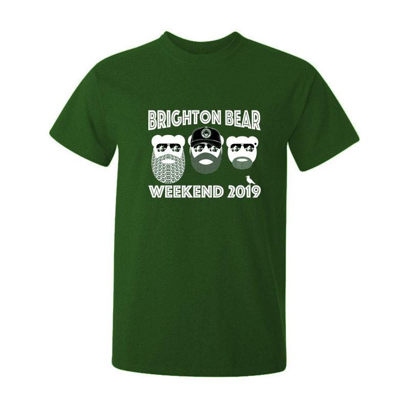 Forest green Brighton Bear Weekend 2019 t-shirt