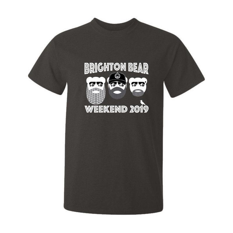 Gunmetal grey Brighton Bear Weekend 2019 t-shirt