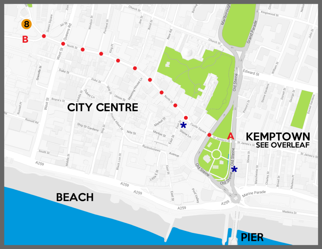 Map showing how to get to the Rialto Theatre