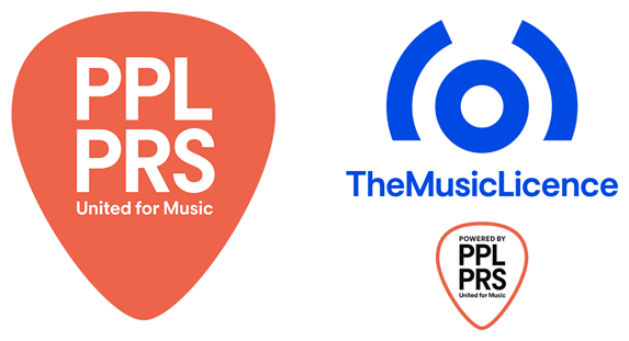 PPL, PRS and TheMusicLicence logos